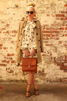 Trench by Gap, dress by ASOS, bag by Coach, shoes  by Banana Republic. (August 29, 2011)