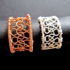Wire woven rings.  Very cool for Royal or Noble largesse.
