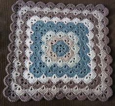 Square Box Stitch Crochet Afghan