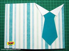 Cartão para Dia dos Pais - Artesanato - Modelo 1 - Passo a Passo 2