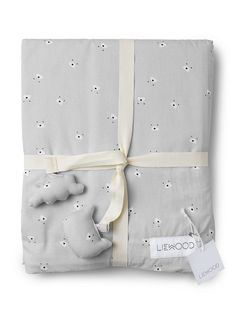 Liewood Mr Bear Cot Bedding Set - Dumbo Grey