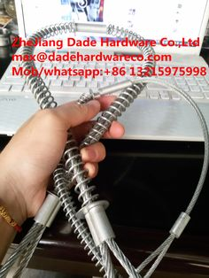 "Stainless steel Whipcheck safety cable (Whipcheck cable de Seguridad)   Size:1/8""   3/16""  1/4""  5/16"" 3/8""   Length:    20-1/2""     38-1/4""  44""   3MMX0.5m to 1/8"" X 20.25  6MMX1m to 1/4"" X 38  8MMX1m  to  5/16"" X 38    Material: steel, stainless stainless"