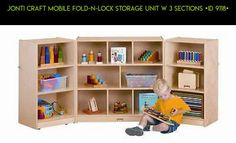 Jonti Craft Mobile Fold-N-Lock Storage Unit w 3 Sections [ID 9118] #gadgets #parts #plans #shopping #tech #lock #drone #storage #products #kit #technology #racing #camera #unit #fpv
