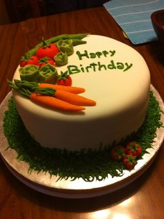 ... cake on Pinterest  60th birthday cakes, Garden cakes and Vegetable