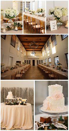 white hydrangea wedding arrangements