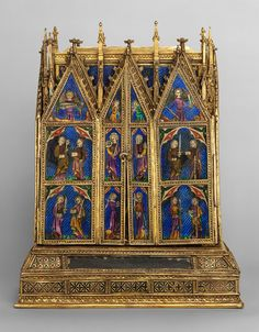 Reliquary Shrine, second quarter of 14th century Attributed to Jean de Touyl