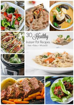 Looking for healthy Instant Pot recipes to start the year off right? I've gathered 15 Keto, Paleo & Instant Pot recipes just for you! Instant Pot Pressure Cooker, Pressure Cooker Recipes, Pressure Cooking, New Recipes For Dinner, Paleo, Keto, Whole 30 Diet, Instant Recipes, Cooking Recipes
