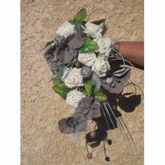 """Résultat de recherche d'images pour """"modèle bouquet mariée ton gris argent et blanc"""""""