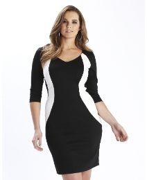 Truly WOW Monochrome Illusion Dress