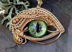 The Beading Gem's Journal: Woven Wire Evil Eye Jewelry by Twisted Sister Arts