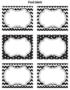 Black and White Label Templates Fresh Free Black & White Printable Labels Celebrations at Home Food Label Template, Food Labels, Free Printable Labels Templates, Pantry Labels, Cubby Labels, Printable Lables, Drawer Labels, Gift Labels, Printable Planner