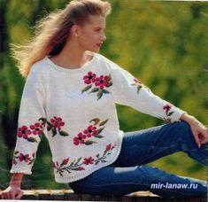 pulover cu flori