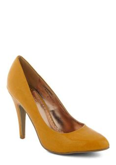 #Updating a Classic Heel in Mustard - Modcloth...loving yellow pumps!