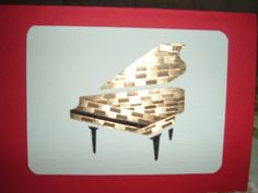 Iris Folding Piano done in a patterned gold by DeesGreetingCards, $4.00
