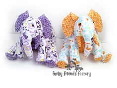 Elephant toy pattern design tutorial