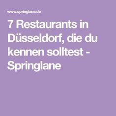 7 Restaurants in Düsseldorf, die du kennen solltest - Springlane