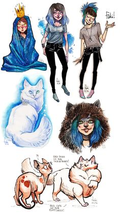 watercolor doodles by Fukari on DeviantArt