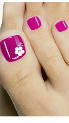 Nails gel, we adopt or not? - My Nails Toe Nail Color, Toe Nail Art, Nail Colors, Pretty Toe Nails, Cute Toe Nails, Pink Nails, My Nails, Toe Nail Designs, Flower Pedicure Designs