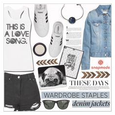 """Denim Jackets - Snapmade 1"" by dora04 ❤ liked on Polyvore featuring Boohoo, adidas, Ray-Ban, Real Purity, denimjackets, WardrobeStaples and snapmade"