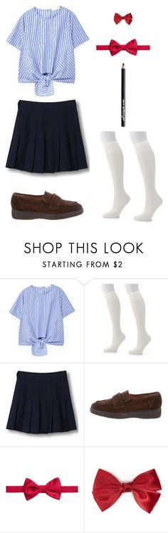 """""""Yuno Gasai Fashion"""" by indigofudge on Polyvore featuring MANGO, Hanes, WithChic, Robert Clergerie, Ryan Seacrest Distinction, Forever 21 and Antonym"""