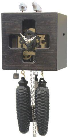 Reloj de cuco estilo moderno movimiento mecánico de 8 días 19cm de Rombach & Haas
