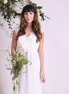 Ad: We love this gorgeous SADIE Cross over bodice bridal gown with little cap sleeves from Modern Love. Bridal Gown | Wedding Gown | Wedding Dress | Wedding Dress Ideas | Unique Wedding Dress