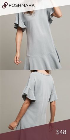 Saturday/Sunday Anthropologie Odette Dress Style No. 40270613 ; Color: pale Aqua   Cotton Mini drop-waist silhouette Pullover styling Machine wash condition: excellent pre-owned Anthropologie Dresses