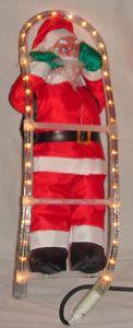 Papanoel Poliester 40 cms Escalera Luz.  #Grandetalles