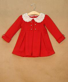 Red Peter Pan Studded Dress - Toddler & Girls