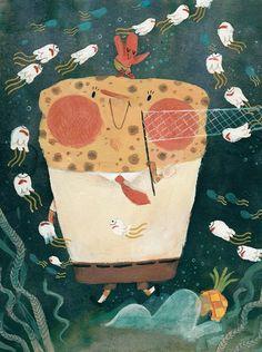 Mr SpongeBob by Amélie Fléchais