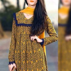 Simple frock Pakistani Dresses Casual, Pakistani Dress Design, Simple Dresses, Beautiful Dresses, Casual Dresses, Frock Fashion, Fashion Dresses, Women's Fashion, Simple Frock Design