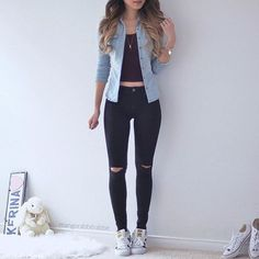 fashion, outfit, and adidas image Mode, Outfit und adidas Image Cute Casual Outfits, Girly Outfits, Mode Outfits, Simple Outfits, Stylish Outfits, Teenage Outfits, Outfits For Teens, Fall Outfits, Outfits 2016