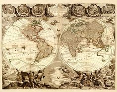 Old World Map - REPRODUCTIONS
