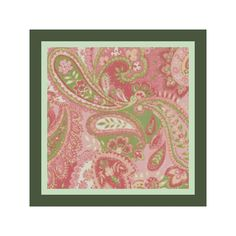 16 x 16 Baby Pink Paisley Pillow Cover Cross by DPeaGreenDesigns, $5.00