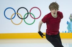 Canada's Kevin Reynolds skaes his routine during a practice session at the Sochi Winter Olympics Tuesday, February 4, 2014 in Sochi.