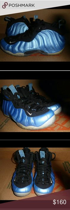 Nike Foamposites Blue nike foams. Great condition. No box. Make me an offer😊😊😊 Nike Shoes Sneakers