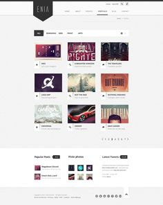 Enia - Professional PSD template on Web Design Served