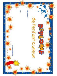 diplome pour encourager l'enfant ... pleins de différents  !! French Classroom Decor, Cycle 3, Stage, Invitations, School, Sensory Play, Games, Classroom Management, Behavior Management