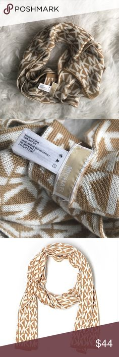 "Michael Kors Logo Scarf NWOT. MK logo knit scarf. MK logo scarf features clean design with solid edges. 64""L x 11""W. Imported. 100% acrylic. Hand wash. MICHAEL Michael Kors Accessories Scarves & Wraps"