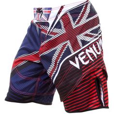 e7563a6fa806 Venum UK Hero MMA Fight Shorts Blue Red