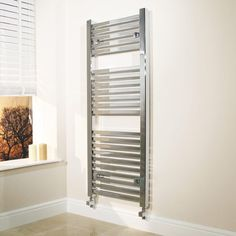450 x 1200 Beta Heat Square Chrome Heated Towel Rail  - Stainless Steel Bathroom Radiators - Better Bathrooms
