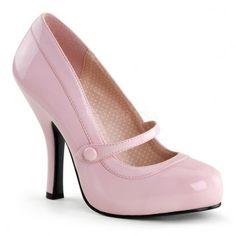 Pinup Couture Cutiepie Pump in soft pink laquer