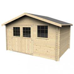 Abri de jardin en bois Timo 13.30 m² - Décor et Jardin - CMJ700316