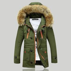2016 New Winter Mens Parka Clothing Thicking Men Jacket Coat With Fur Hood high Quality Jackets Men plus size Vestidos hot sale