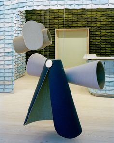 Acclaimed design studio Doshi Levien has created a playful installation that combines Kvadrat textiles to highlight the unique qualities of wool. The Wool Parade consists of 12 upholstered objects, which are inspired by the avant-garde parties and architectural theatre costumes from the early Bauhaus period. #Kvadrat #TheWoolParade #Design