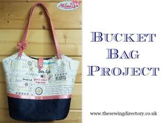 """""""This spacious bucket bag works well as an oversized handbag, a beach bag or even an overnight bag. You can add leather straps to give it a luxurious feel or make your own fabric straps to add to it. It's got a sturdy fabric base and is lined to ensure you get years of use from it."""""""