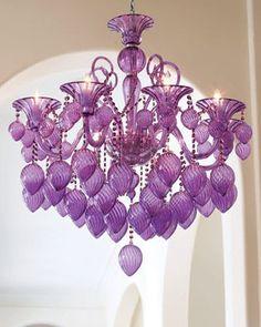 de lagrimas estilo antiguo de color violeta hermosa