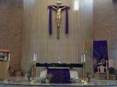 Lenten altar decor, Lent 2016, St Joseph's Catholic Church, Lincoln,NE