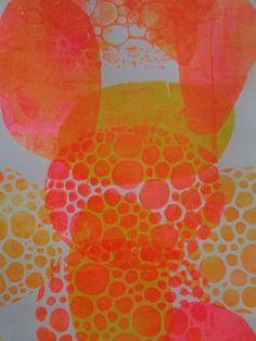 Monoprint by Henriette Pentenga love the colors