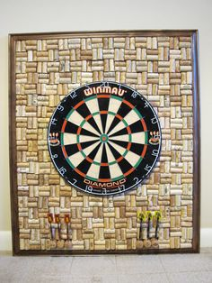 Hey, I found this really awesome Etsy listing at https://www.etsy.com/listing/266325751/wine-cork-dartboard